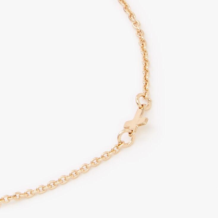 Gold Multi Cross Chain Bracelet,