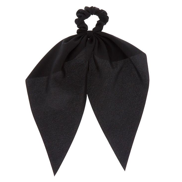 Draped Scarf Hair Scrunchie - Black,