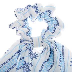 Prairie Scarf Hair Scrunchie - White,