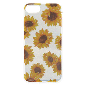 Holographic Sunflower Phone Case - Silver,