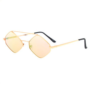 Hexagonal Sunglasses - Pink,