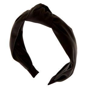 PU Knotted Headband - Black,