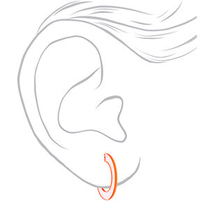 40MM Clear Hoop Earrings - Orange,