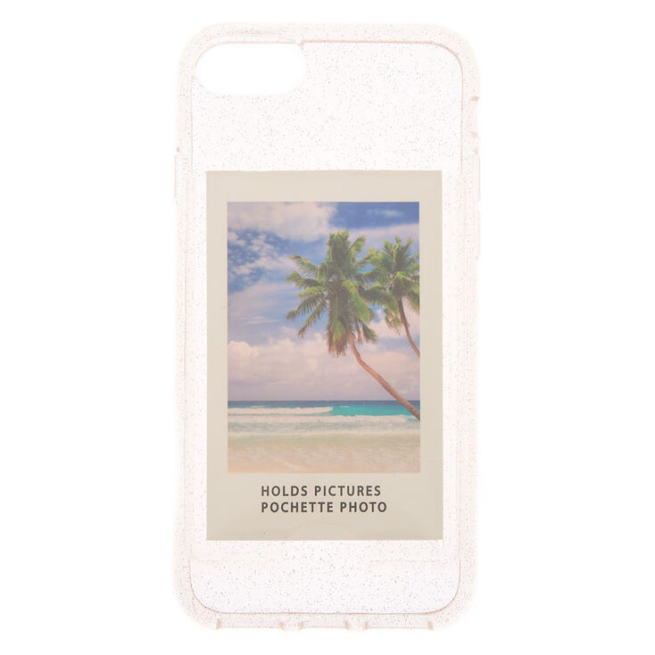 Instax Mini Pocket Glitter Phone Case - Fits iPhone 6/7/8/SE,