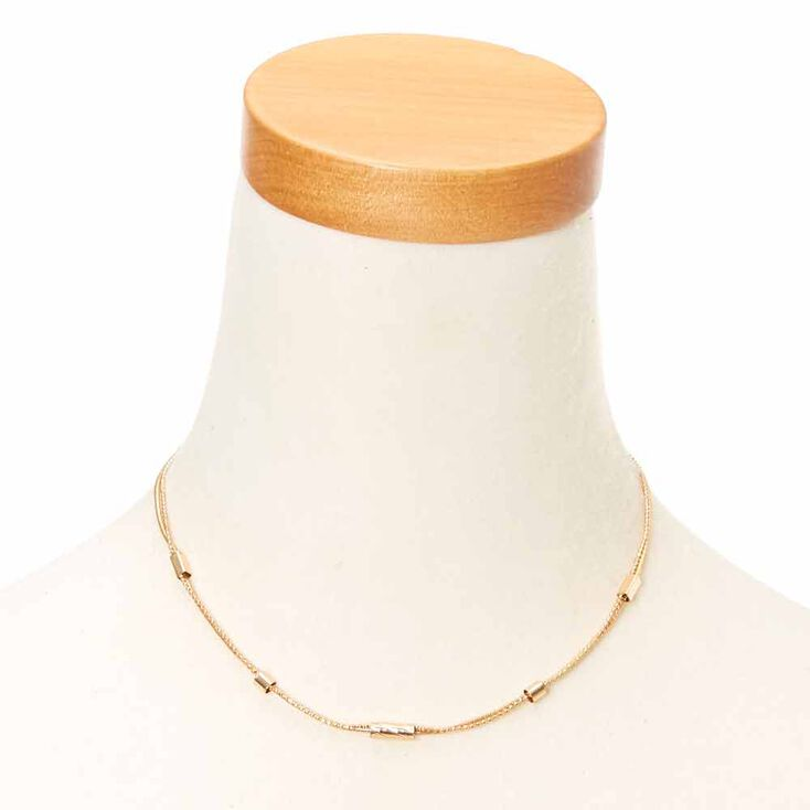 Thin Double Strand Choker,