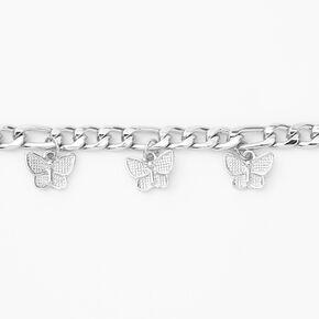 Silver Butterfly Charm Bracelet,