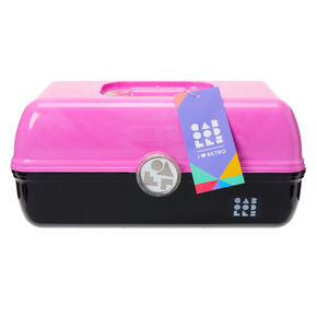 Caboodles® On-The-Go Girl™ Black and Pink Classic Makeup Case,