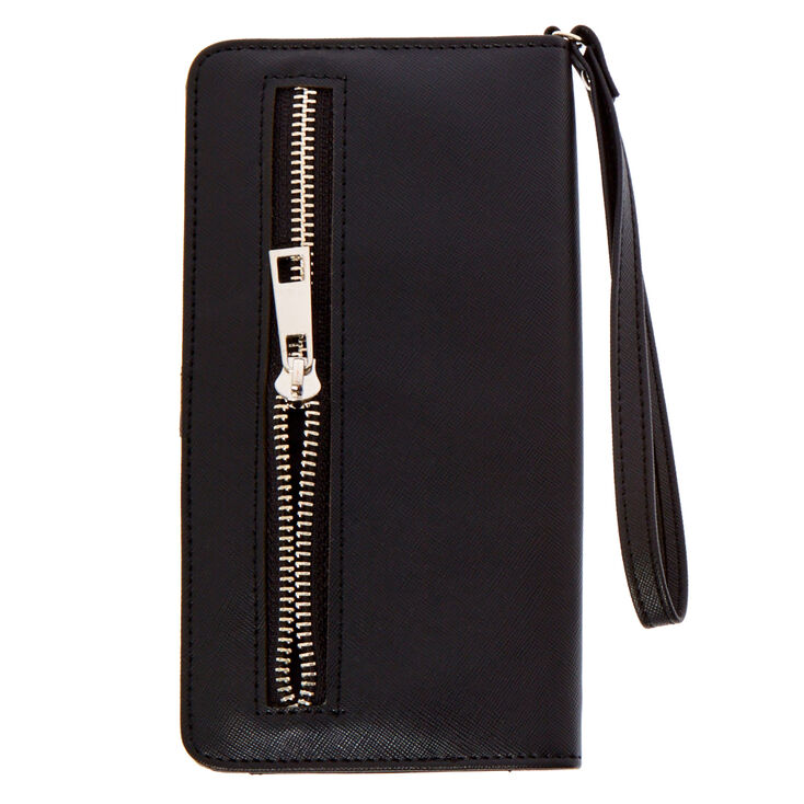 Black & Silver Perforated Tech Wristlet,
