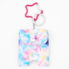 Tie Dye Hand Sanitizer Pouch Keychain,