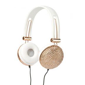 Rose Gold Bling Headphones,
