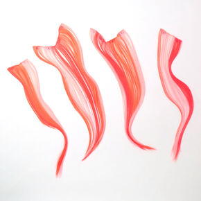 Ombre Faux Hair Clip In Extensions - Apricot, 4 Pack,