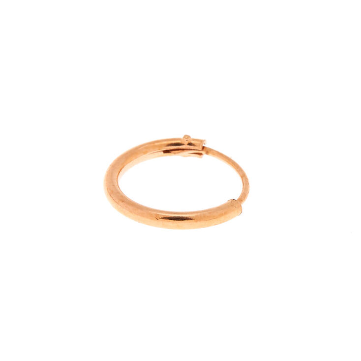 Rose Gold Sterling Silver 10MM Cartilage Hoop Earring,