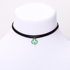 Shamrock Double Row Choker Necklace,