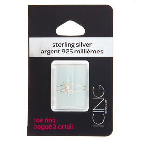 Sterling Silver Starfish Double Row Toe Ring,
