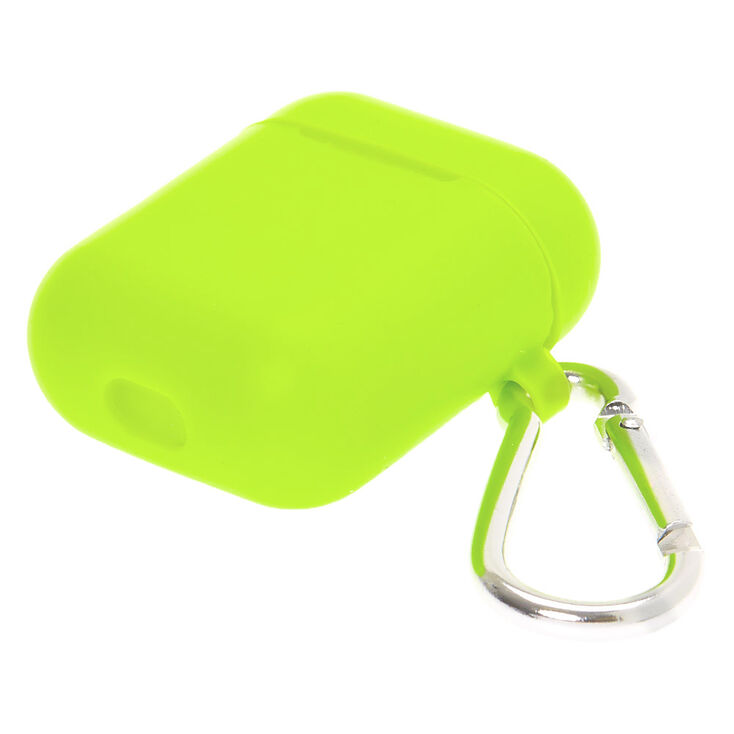 Lime Silicone Earbud Case Cover - Compatible With Apple AirPods,