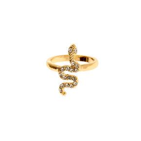 Gold Cross Midi Ring,