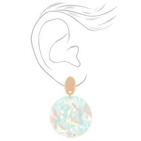 """Tortoise Shell 2"""" Drop Earrings - Mint,"""