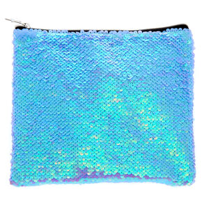Reversible Sequin Makeup Bag - Purple,