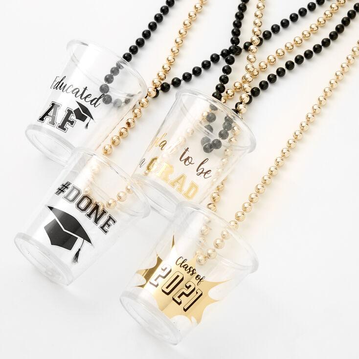 2021 Graduation Shot Glass Beads - Black,
