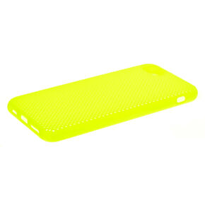Neon Yellow Perforated Phone Case - Fits iPhone 6/7/8,