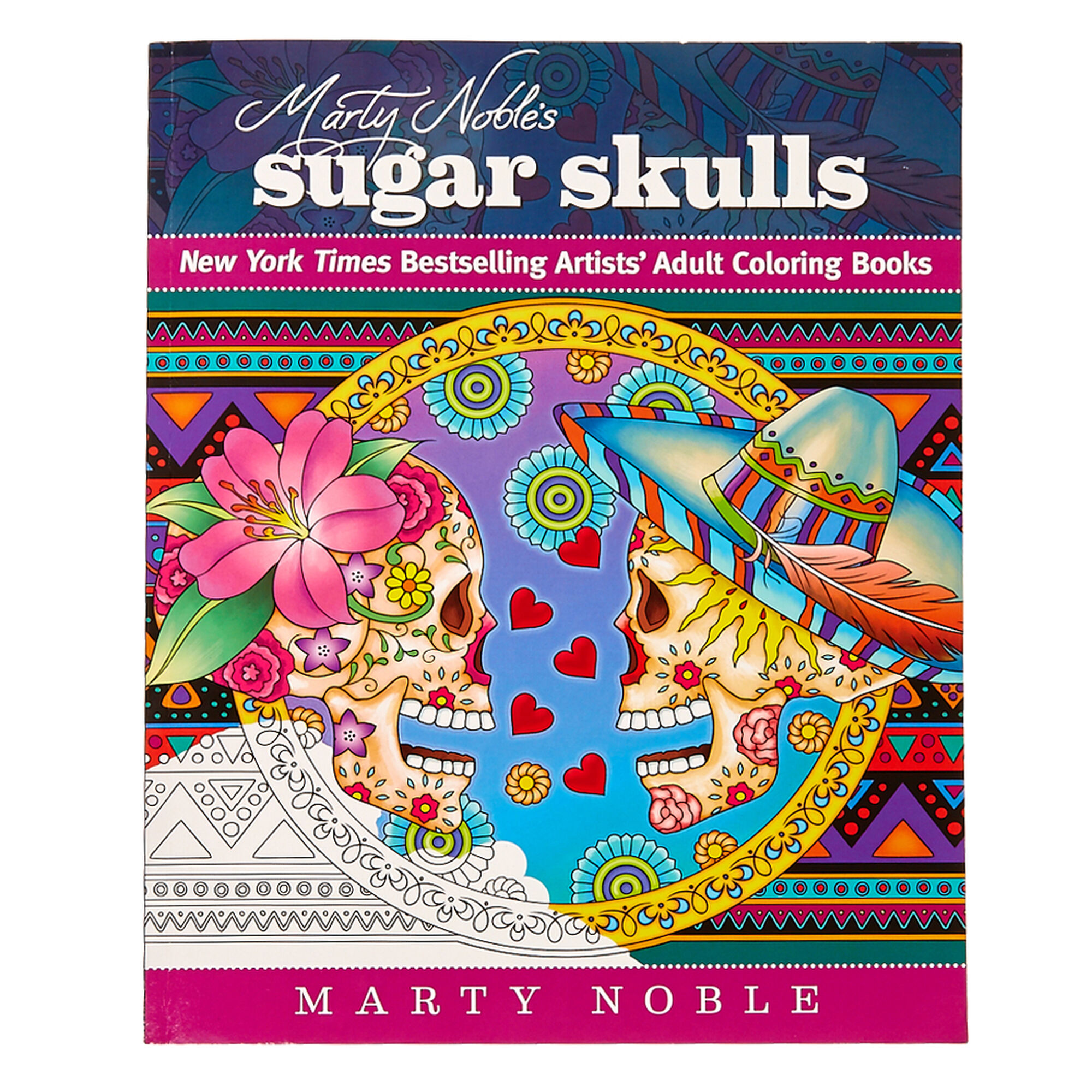 Marty Noble\'s Sugar Skulls Coloring Book | Icing US