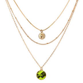 Gold Neon Snakeskin Multi Strand Necklace,