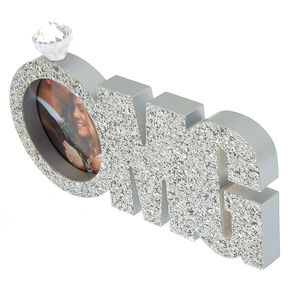 OMG Glitter Bridal Photo Frame - Silver,