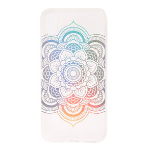 Rainbow Holographic Mandala Phone Case - Fits iPhone X/XS,
