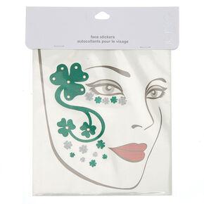 Shamrock Face Stickers - Green,