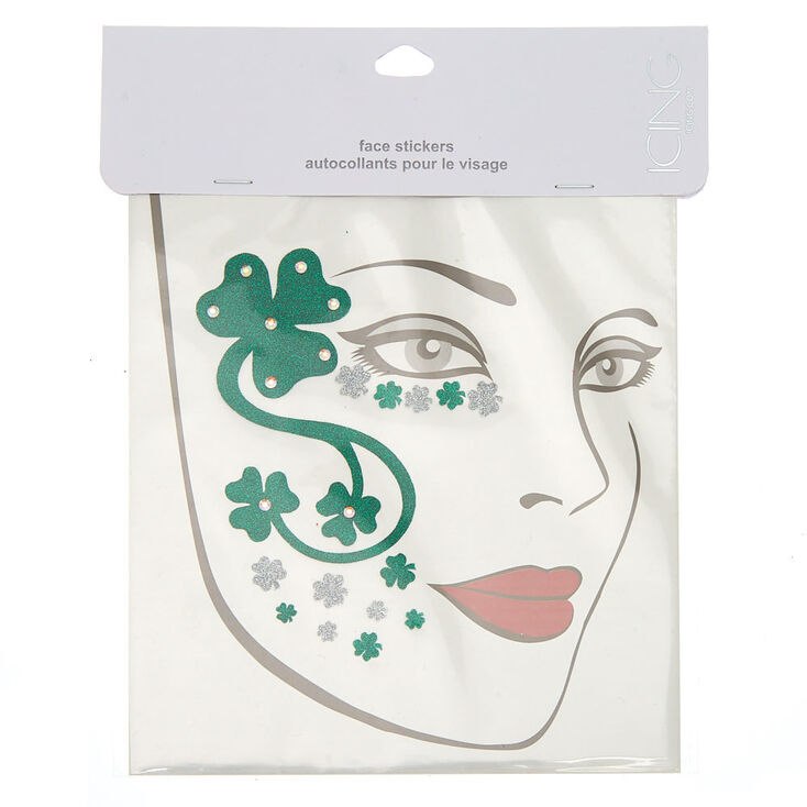 Shamrock Face Stickers - Green,