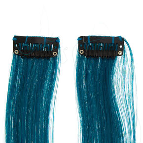 Mermaid Ombre Faux Hair Extension Clips - 2 Pack,