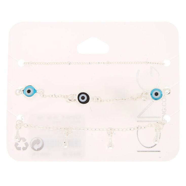 Evil Eye Chain Bracelets - 3 Pack,