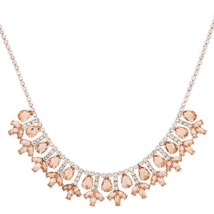 Rose Gold Elegant Statement Necklace,