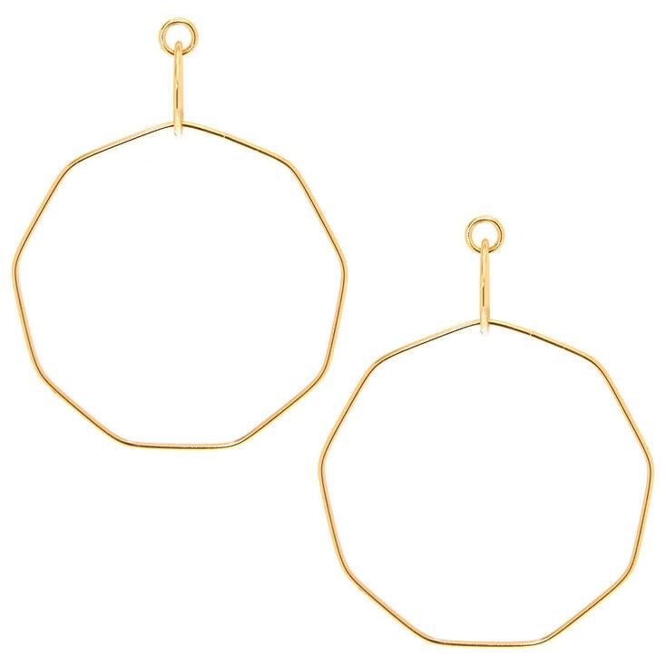 Large Gold Geometric Drop Earrings,