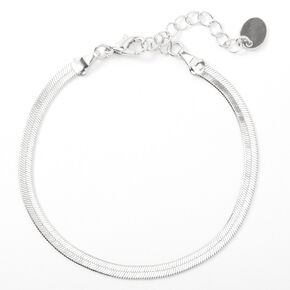 Silver Simple Sleek Chain Bracelet,