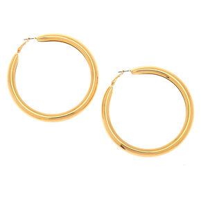 Gold 80MM Tube Hoop Earrings,