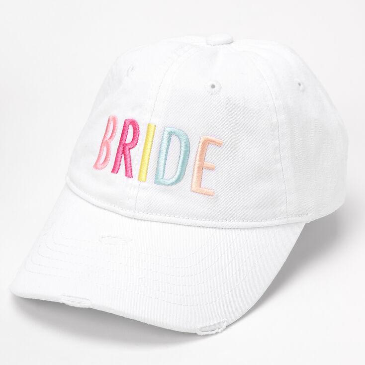 Rainbow Bride Baseball Cap - White,