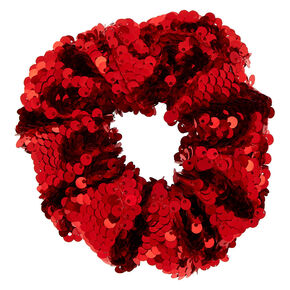 Sequin Hair Scrunchies - Red,