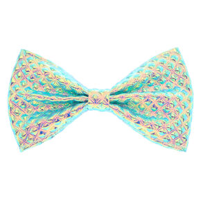 Holographic Diamond Stamped Bow Hair Clip,