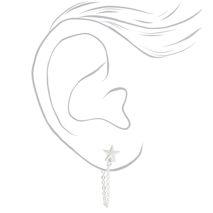 Silver Celestial Cuff & Mixed Earrings - 6 Pack,