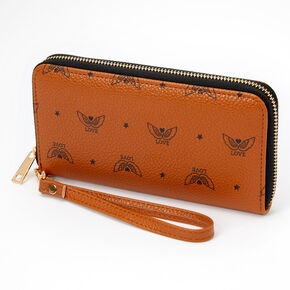 Love Angel Wings Wristlet - Tan,