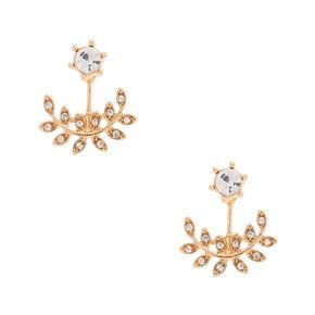 Rose Gold-Tone Vine Ear Jacket Earrings,