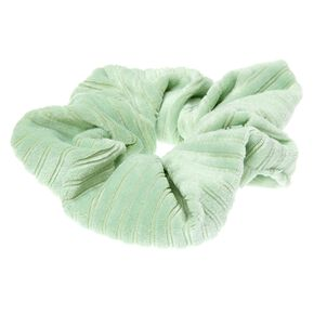 Medium Ribbed Velvet Hair Scrunchie - Mint,