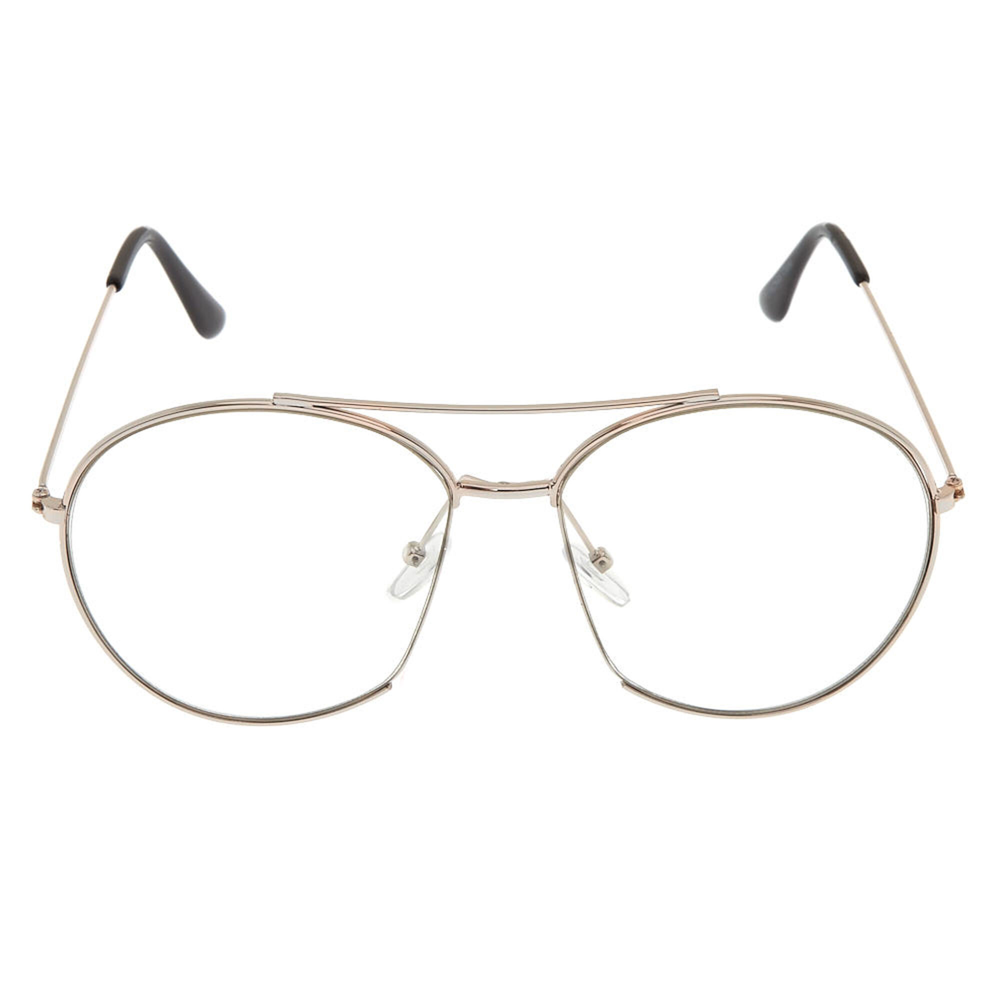 Silver Oversized Aviator Frames | Icing US