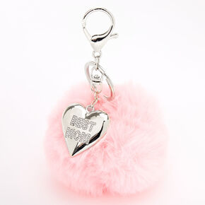Best Mom Pom Keychain - Pink,