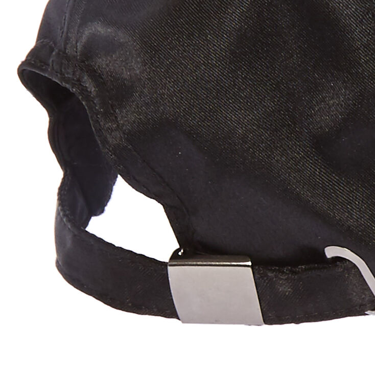 Black Satin ABSOFXCKINGLUTELYNOT Baseball Hat,
