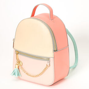 Pastel Color Block Small Backpack,