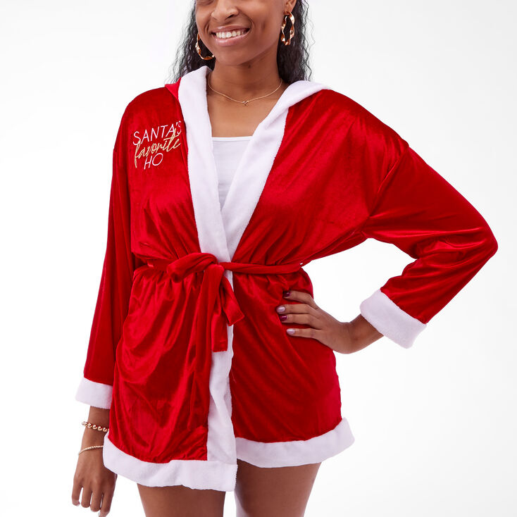 Santa's Favorite Ho Robe - Red,