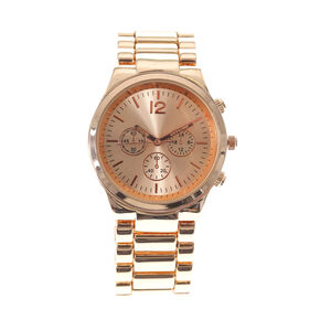 Rose Gold Boyfriend Watch,