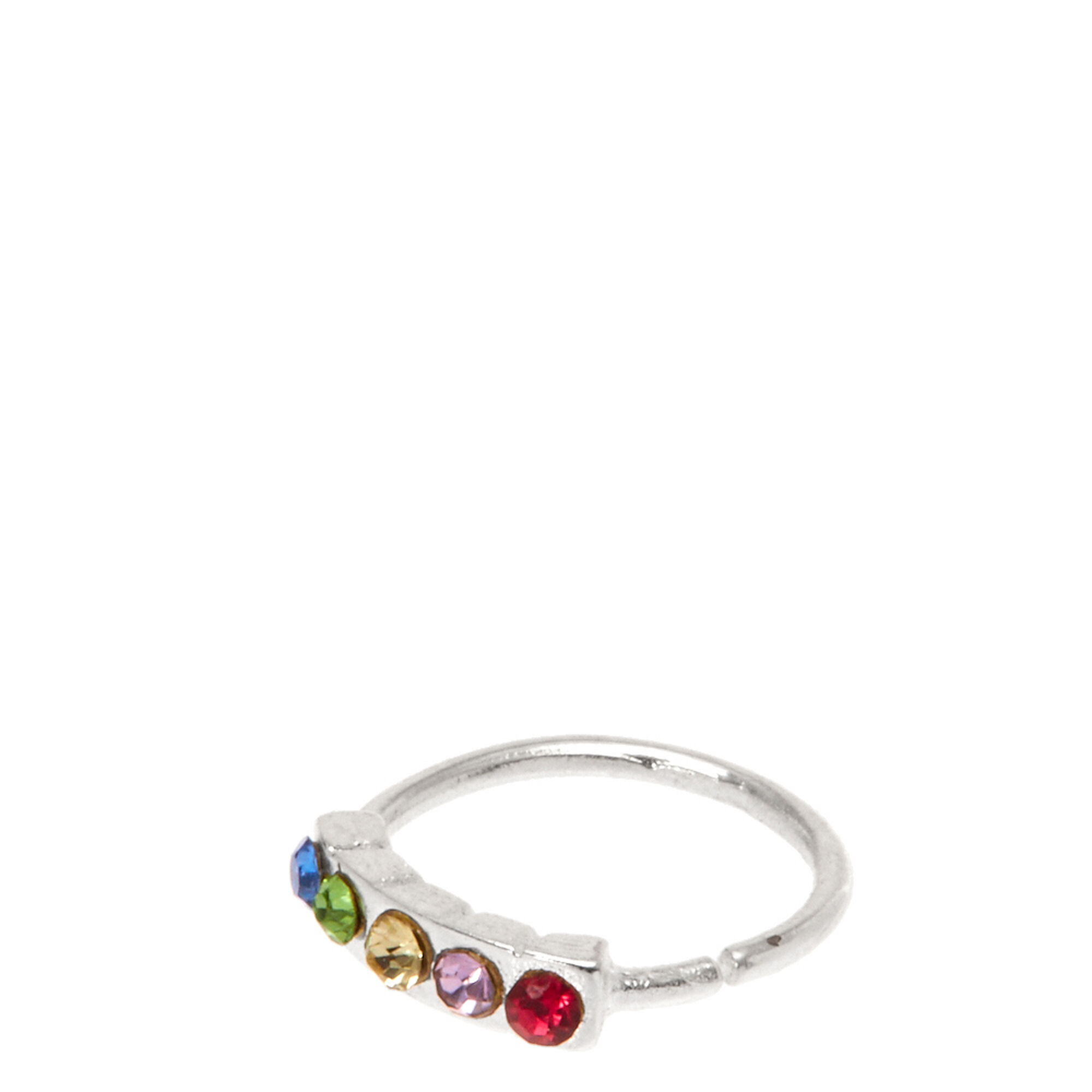 Stainless Steel Rainbow Hoop Nose Ring | Icing US